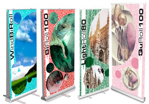 Colorby -  Il sito degli espositori rollup, produzione e vendita online di Espositori rollup di facile trasporto, dai più economici ai modelli lusso, Rollup mono e bifacciali a partire da 25 euro; qui trovi la più completa linea di rollup stampati per punto vendita, fiere e congressi.
