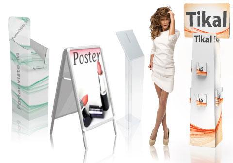 Portadepliant da terrain cartone o metallo, stampati e personalizzati.