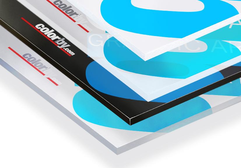Pannelli in metacrilato Plexi, stampati con inchiostri ecologici Latex, ad alta risoluzione