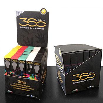 Box Dispenser modificato, realizzato in cartone microonda stampato e plastificato opaco.