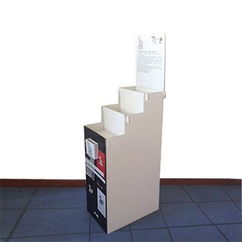 Espositore per libri con tre ripiani f.to 35x50x106cm.