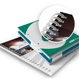 Qui realizzi il preventivo online per la stampa di fascicoli a schede, siano essi rilegati con spirale metallica o semplicemente forati per l'inserimento in raccoglitori.