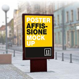 Grandi formati per esterni Stampa di poster da Affissione di grande formato, carta blue back antispappolo per esterno. Puoi creare i tuoi preventivi scegliendo tra i formati standard o inserendo inserendo il formato che desideri.