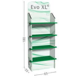 Evo XL4 - Espositore largo a 4 ripiani