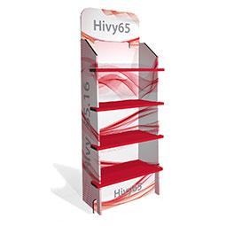 Hivy - Espositori in cartone da terra con ripiani resistenti