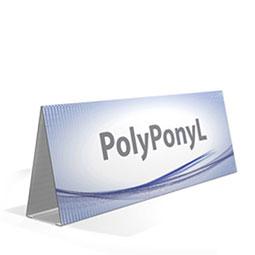 Cavalletto triangolare  in PVC polionda rivestito. Di semplicissimo montaggio, resistente all'acqua.Adatto per manifestazioni all'aperto in cui servono dei