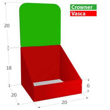 Compo 20x20 Misure in cm. <br>Zone Stampabili o Colorabili a scelta.