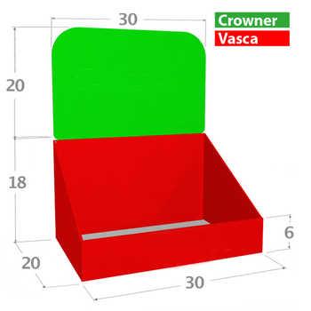 Compo 30x20 Misure in cm. <br>Zone Stampabili o Colorabili a scelta.