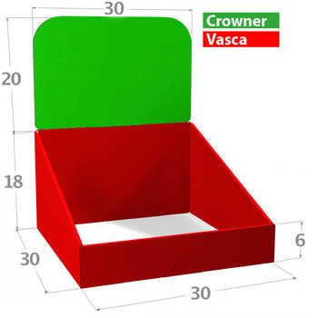 Compo 30x30 Misure in cm. <br>Zone Stampabili o Colorabili a scelta.