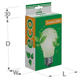 Scatole in cartoncino con doppia apertura ad incastro e foro per gancio portablister  ; Possono essere stampate, plastificate e verniciate. Misure variabili in funzione dei prodotti da inserire. Su richiesta le scatole possono essere stampate anche all'interno.