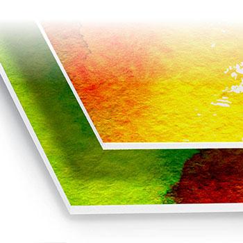 Stampa Pannelli in PVC semiespanso, stampa lucida od opaca a colori con accoppiamento, possibilità di plastificazione