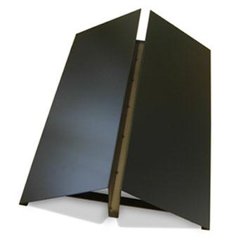 Base in acciaio nera
