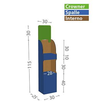 modello XS misure in cm