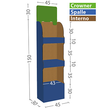 modello L misure in cm