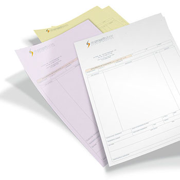 I classici fascicoli in carta chimica, disponibili a 2 o 3 parti con carte in diverse colorazioni.  ; Possono essere confezionati anche come blocco con copertina per un comodo utilizzo.