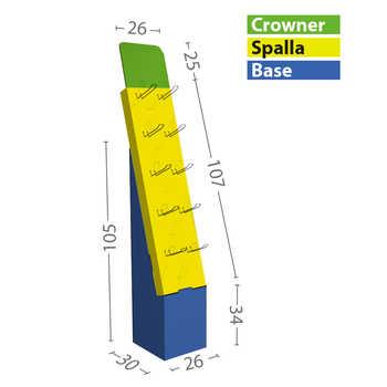 Modello M misure in cm