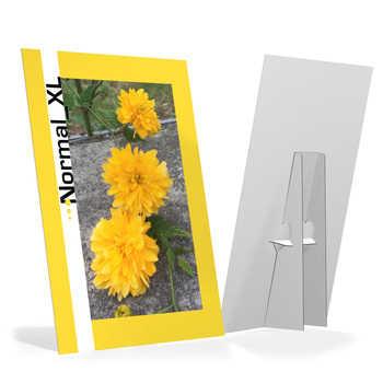 Cartello in cartone Teso con piedino. Disponibile in 4 misure con finitura lucida od opaca