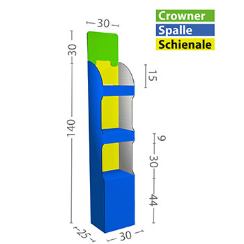 Dimensioni S in cm