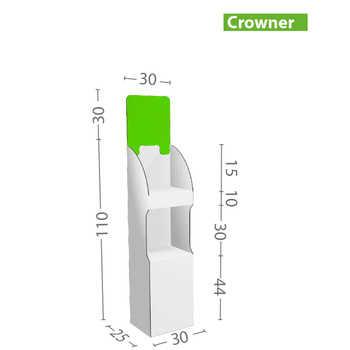Espositore economico a ripiani, realizzato in cartone microtriplo con ripiani di portata 3kg ciascuno. Può essere prodotto interamente stampato o con personalizzazione parziale.Larghezza 48cm e due altezze,   vedi dettagli....