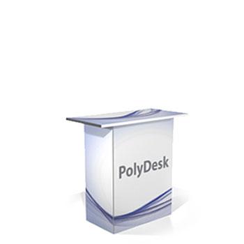 Desk a base quadrata in PVC polionda rivestito. Ripiano robusto e leggero spesso 20mm Particolarmente adatto  al montaggio e smontaggio frequente e all'uso in presenza di acqua.