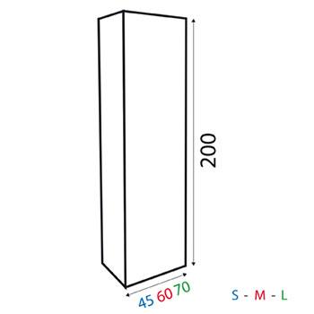 Totem a base quadrata  in PVC polionda rivestito. Di semplicissimo montaggio, resistente all'acqua, adatto all'applicazione di tasche porta depliant.