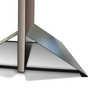 Base in acciaio con pannello inserito