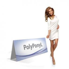 Cavalletto Espositore in pvc polionda  Cavalletto triangolare  in PVC polionda rivestito. Di semplicissimo montaggio, resistente all'acqua.Adatto per manifestazioni all'aperto in cui servono dei