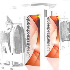 Copri Antitaccheggio per negozi Coprisensori Antitaccheggio , realizzato in cartoncino teso da 600 micron, stampa a colori e finitura lucida o opaca.