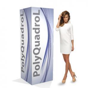 Espositori per pubblicità in PVC polionda  Totem a base quadrata  in PVC polionda rivestito. Di semplicissimo montaggio, resistente all'acqua, adatto all'applicazione di tasche porta depliant.