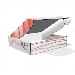 Scatole in cartone ondulato personalizzate Scatola automontante senza incollaggi in cartone bianco micro onda E da 1,5 mm, personalizzabile con stampa a colori, misure personalizzate sulle vostre esigenze.
