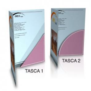 Stampa Digitale  ;  Su cartoncino fino a 350g ;  Tasche in diverse forme ;   Coste con spessore fino 7 mm ;  Possibilità di plastificazione